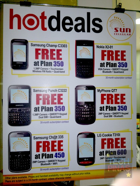 Sun cellular free phones postpaid plan 350 450 600 for Sun mobile plan
