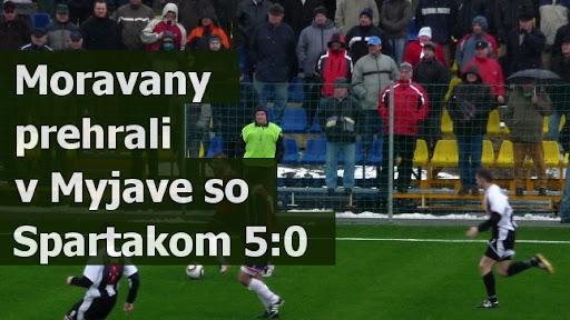 Moravany prehrali v Myjave so Spartakom 5:0