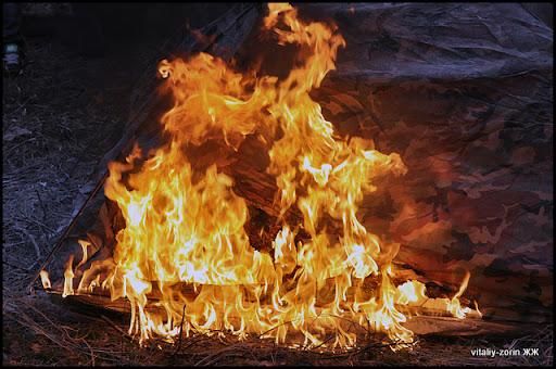 время горения палатки
