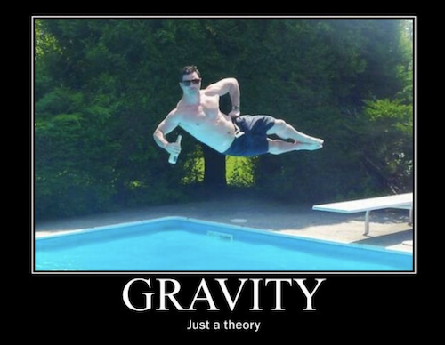 Man Fighting Gravity