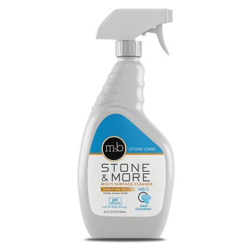 bottle of stone and more granite and marble cleaner