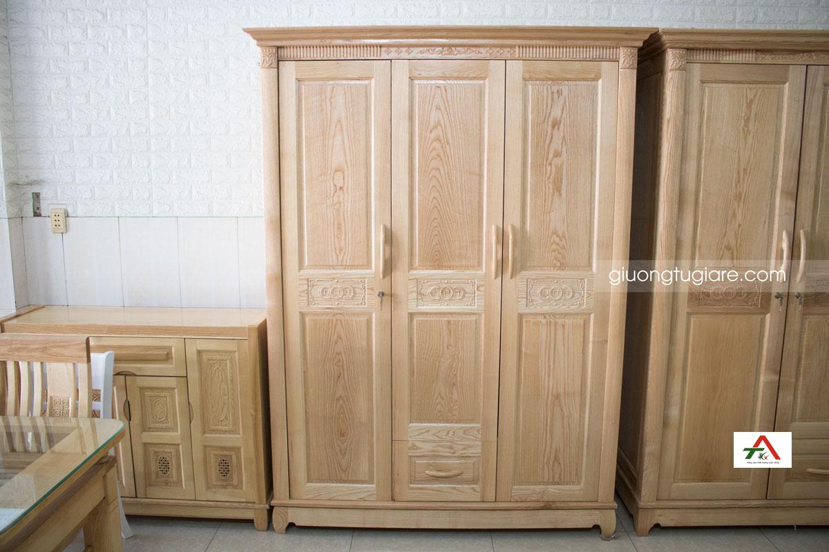 tủ áo gỗ tự nhiên sồi