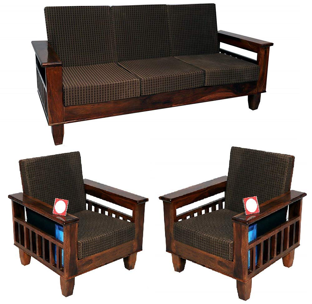 Cherry Wood Living 5-Seater Sofa Set