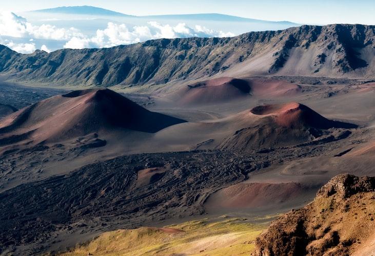 A rocky terrain