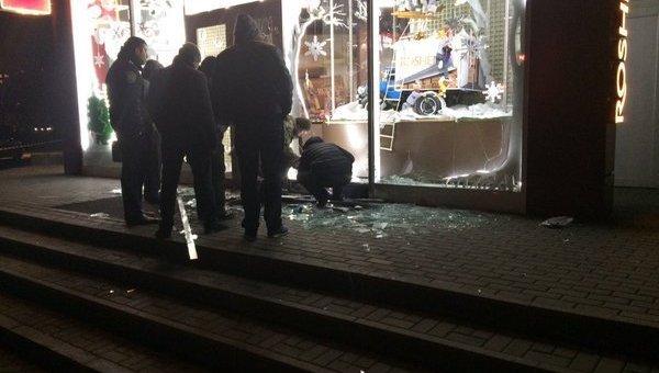 Магазин «Рошен» в Харькове после взрыва