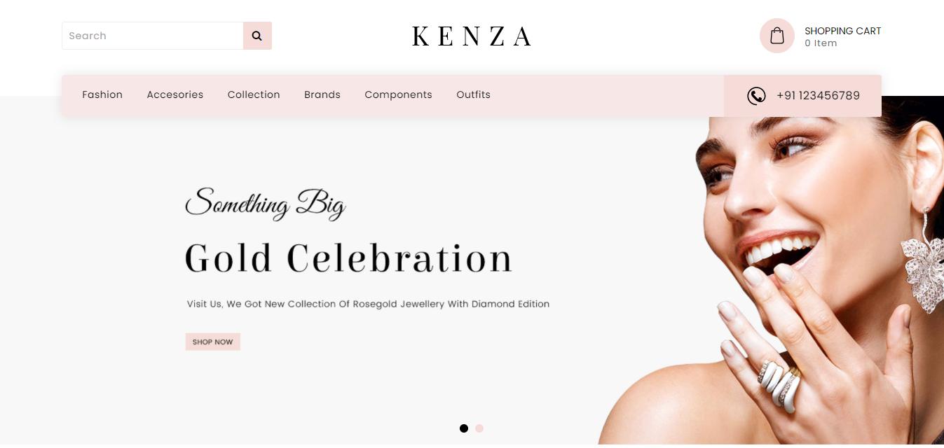 Kenza - Opencart jewelry theme