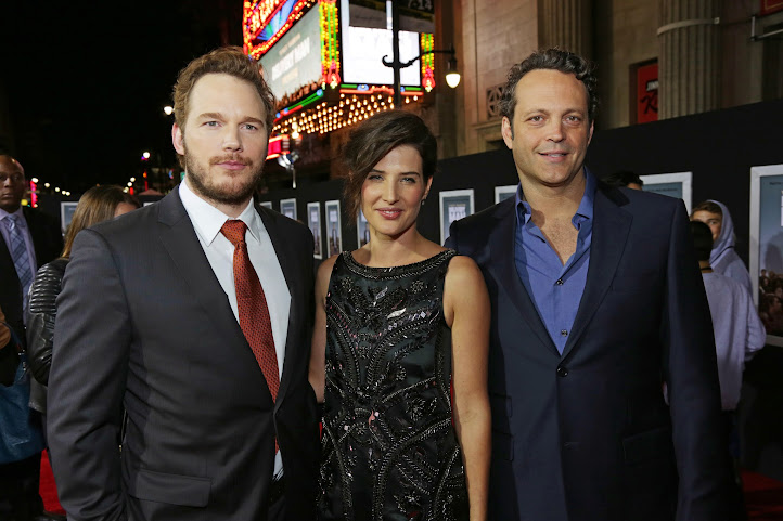 Chris Pratt (Brett), Cobie Smulders (Emma) and Vince Vaughn (David) in Delivery Man #DeliveryManEvent