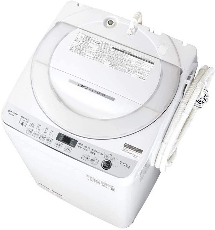 シャープ SHARP 全自動洗濯機7kgES-GE7E-W