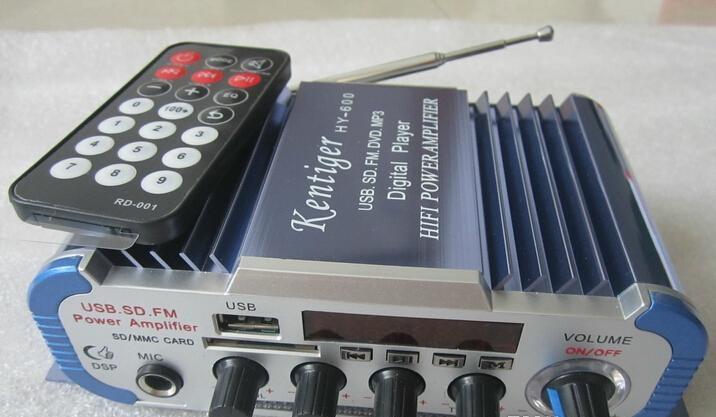 Mini USB SD FM stéréo trois en 1 Kentiger HY600 Amplificateur couleur bleue Microphone entrée de la télécommande 2 CH Car Amplificateur www.avalonlineshopping.com 6.jpg
