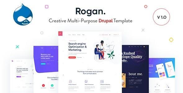 Drupal 9 theme Rogan
