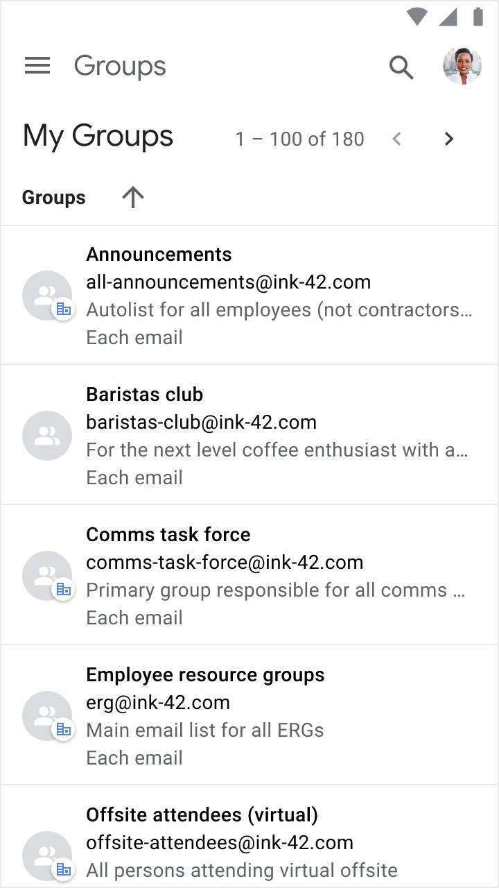 Buscar grupos en móviles