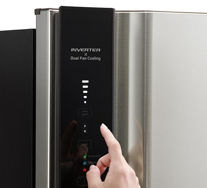 Панель управления холодильника Hitachi R-V660PUC7BSL