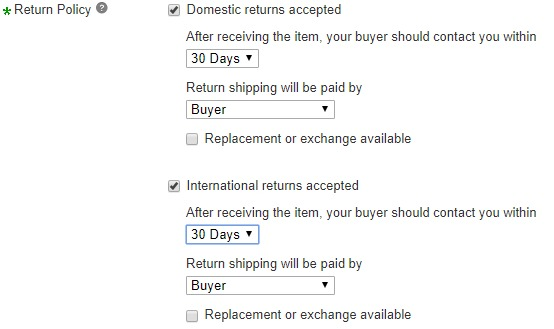 Chinabrands to eBay Return Policy