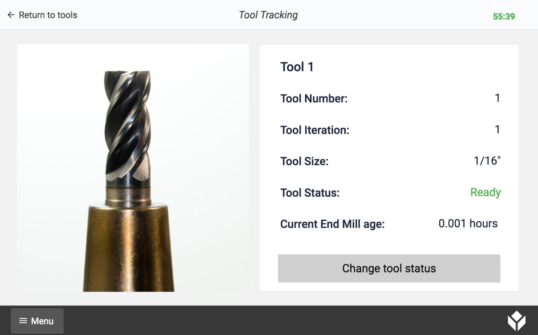 Tool tracking app image