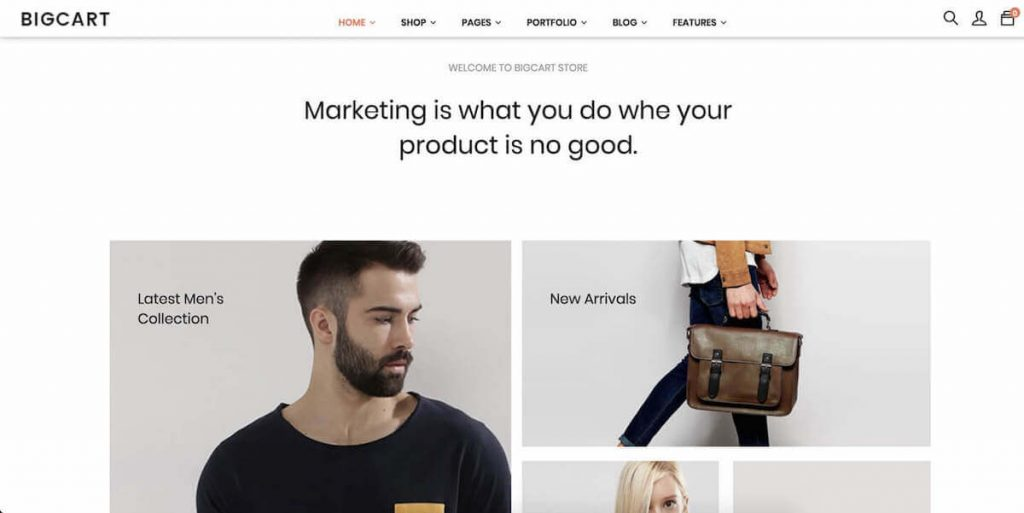 Bigcart - fashion ecommerce wordpress themes