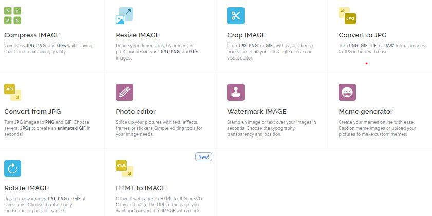 Situs Kompress Foto Online Gratis dengan Ilove Image
