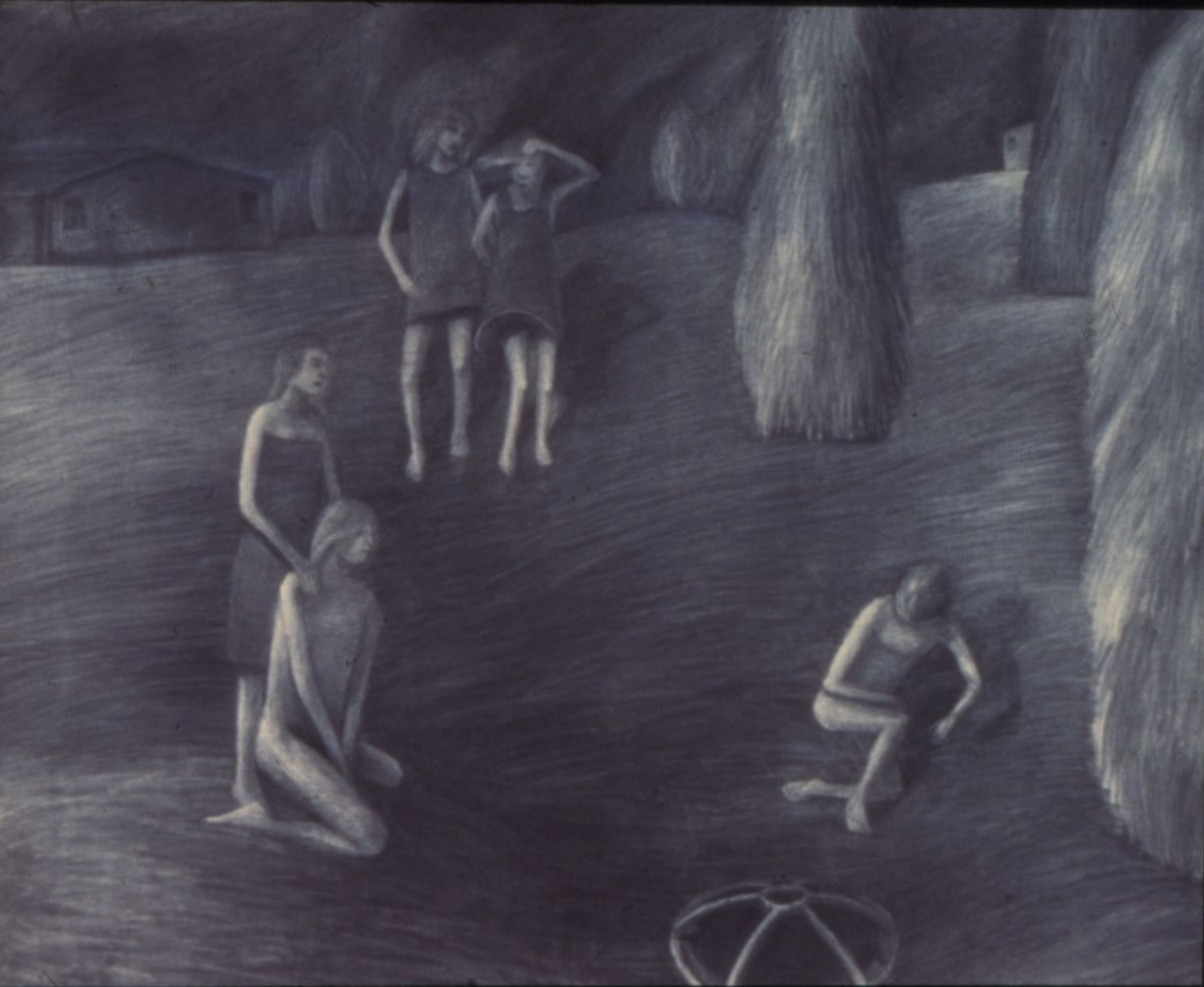 Drain, Charcoal on paper, 1983