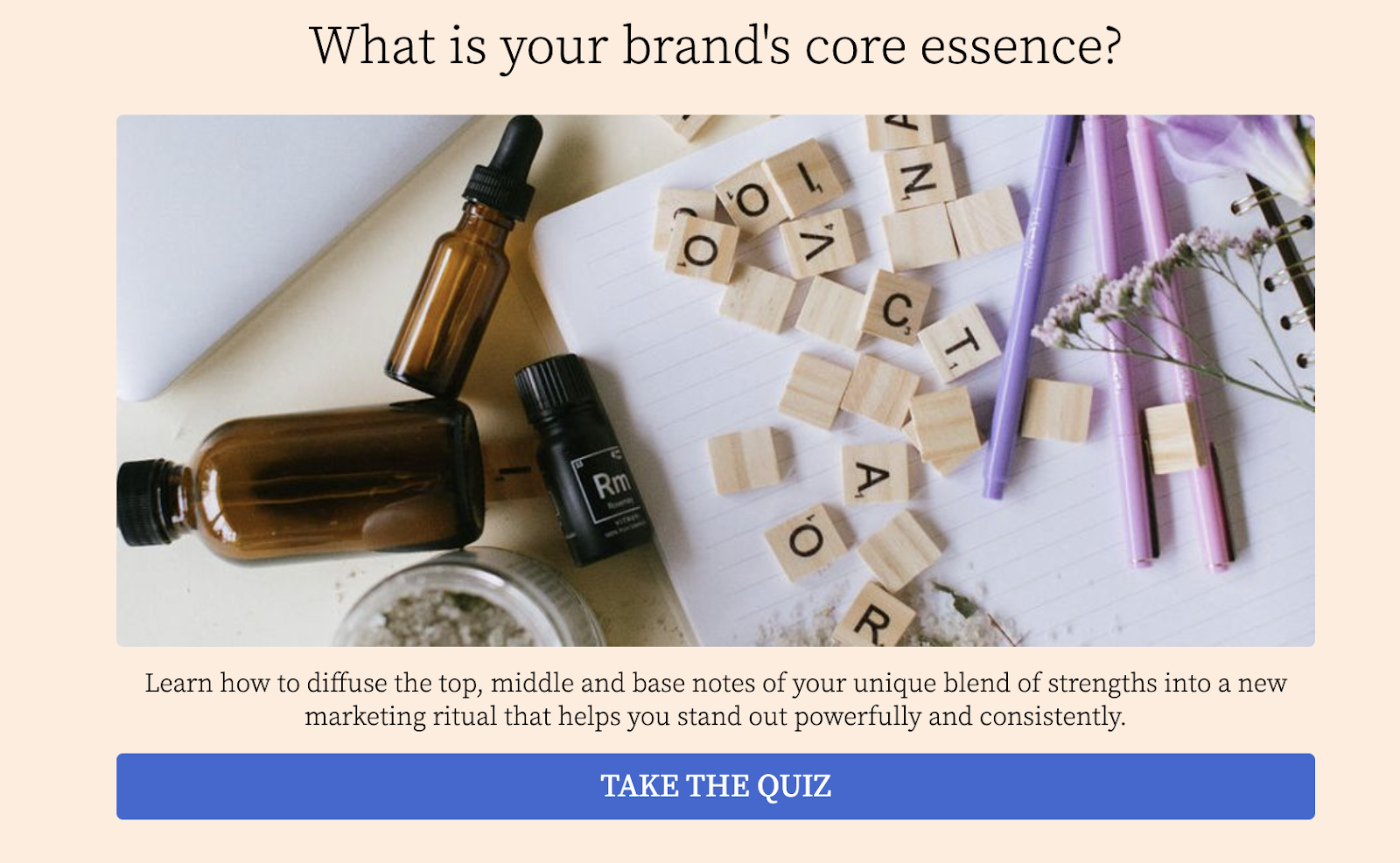 what is your brand's core essence quiz cover