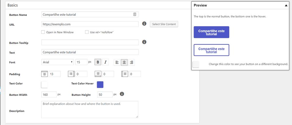 tela de criação e edição de botão no plugin maxbuttons para wordpress