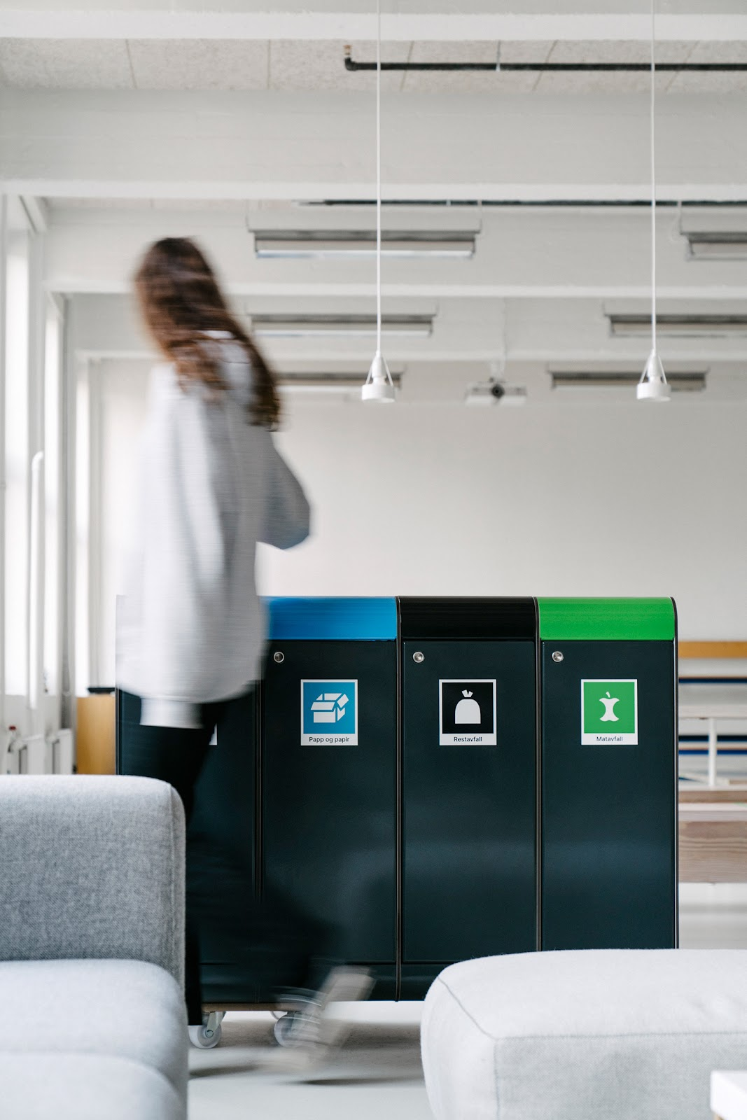 icons recycling system pictograms rational waste