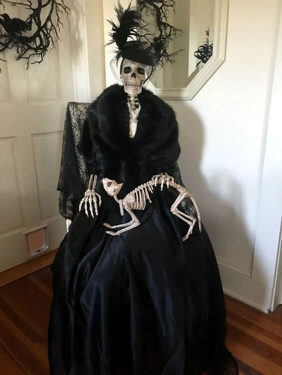 elegant old skeleton
