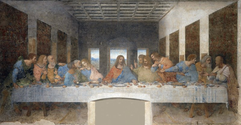 Leonardo da Vinci started painting his famous Last Supper mural in Milan in 1495