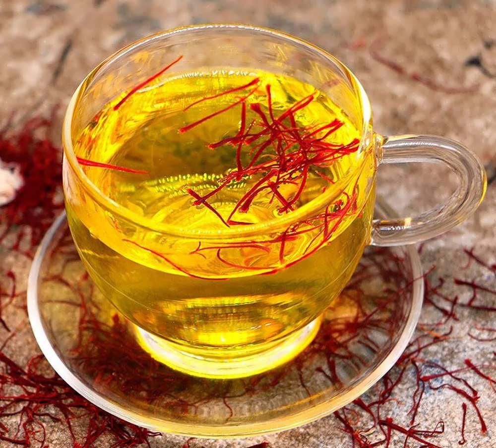 What beverages can we make with saffron strands?