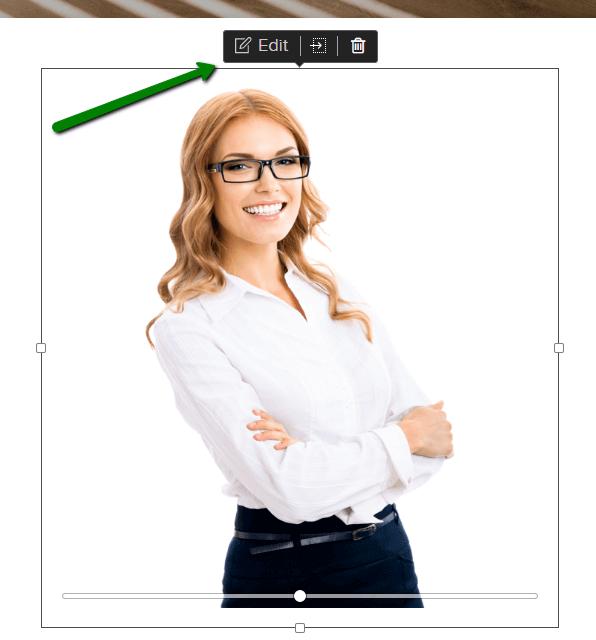 Comment modifier une image dans le constructeur de site Webnode