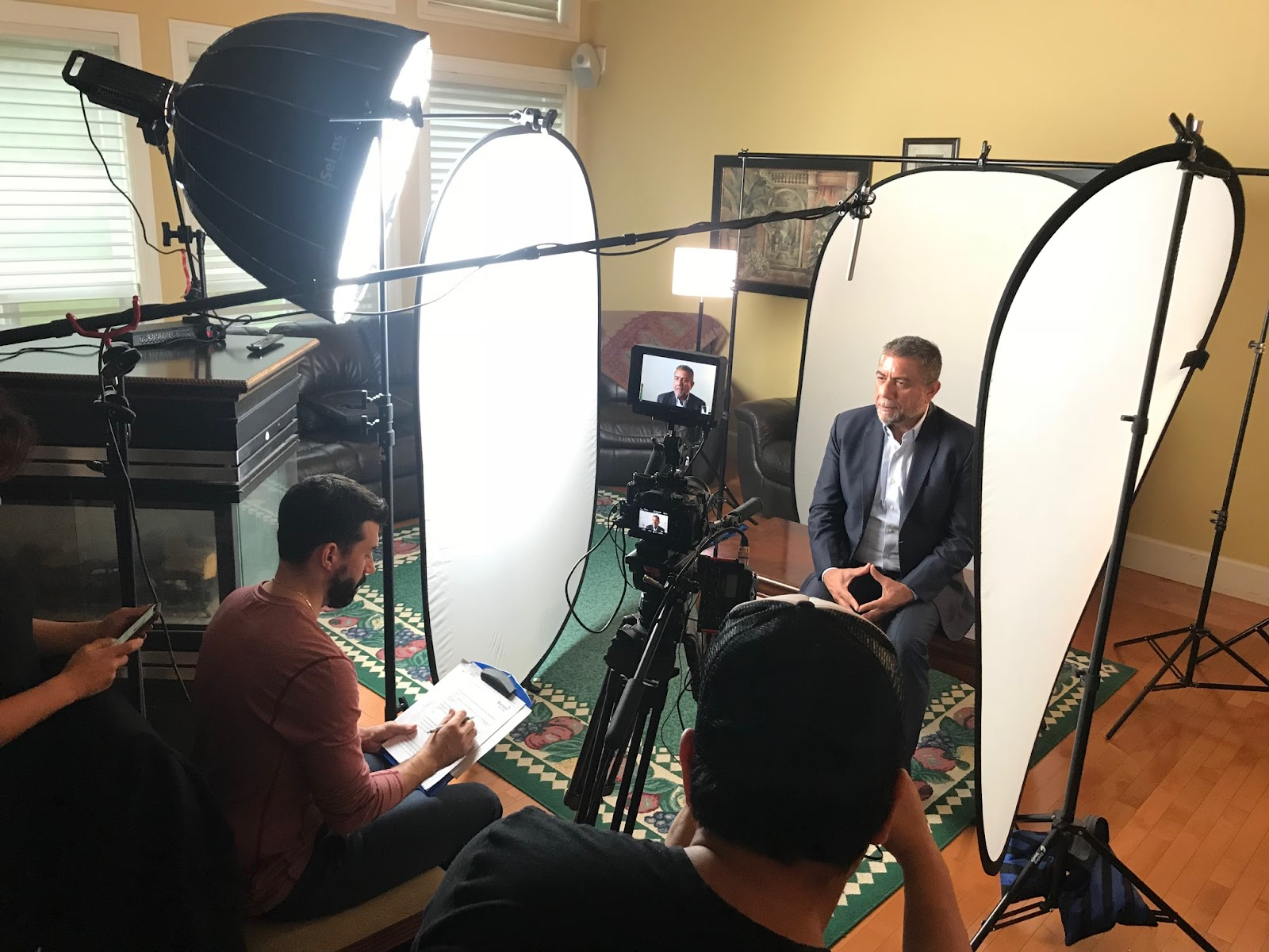 Behind the scenes of making the Sukh Dhaliwal campaign video.