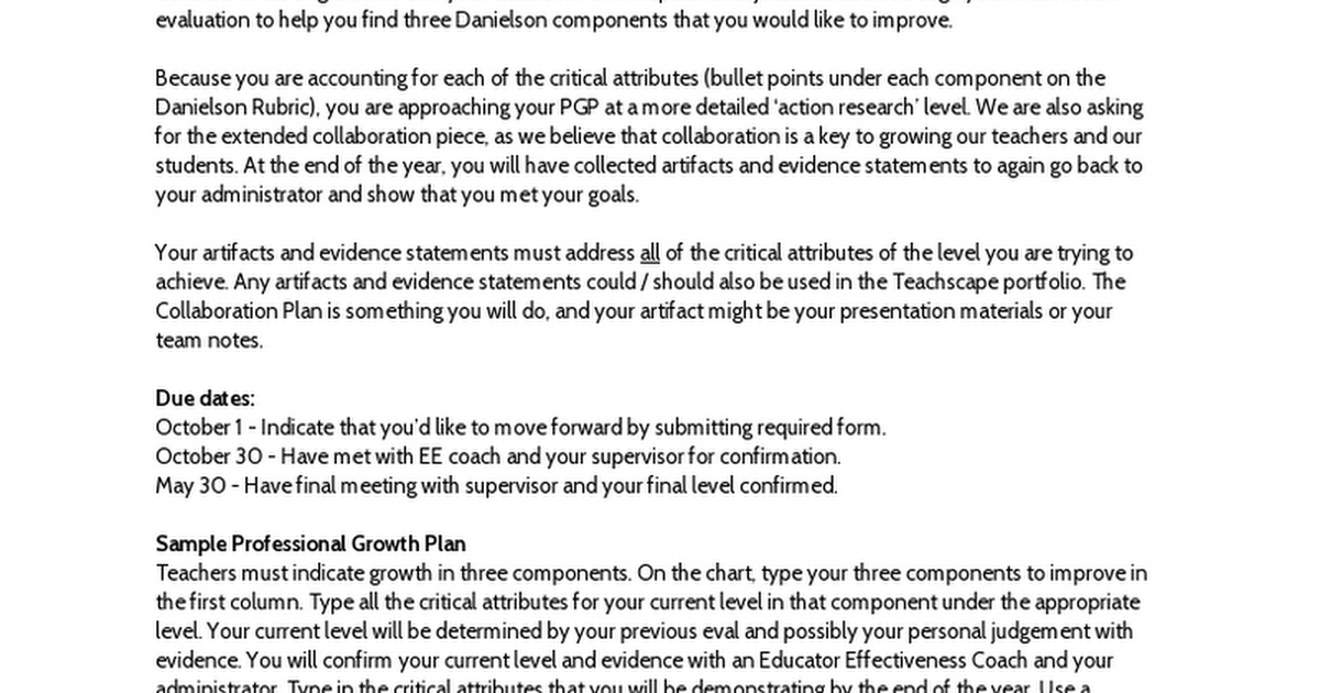 Sample professional growth plan google docs altavistaventures Images