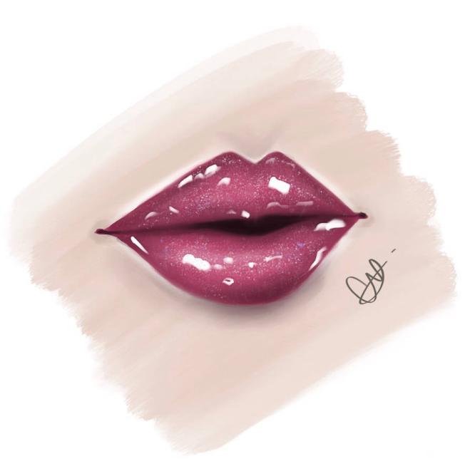 lip gloss brushes procreate
