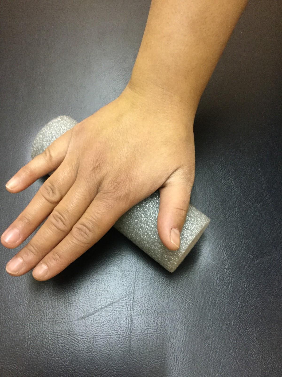 Foam Rolling the Hand