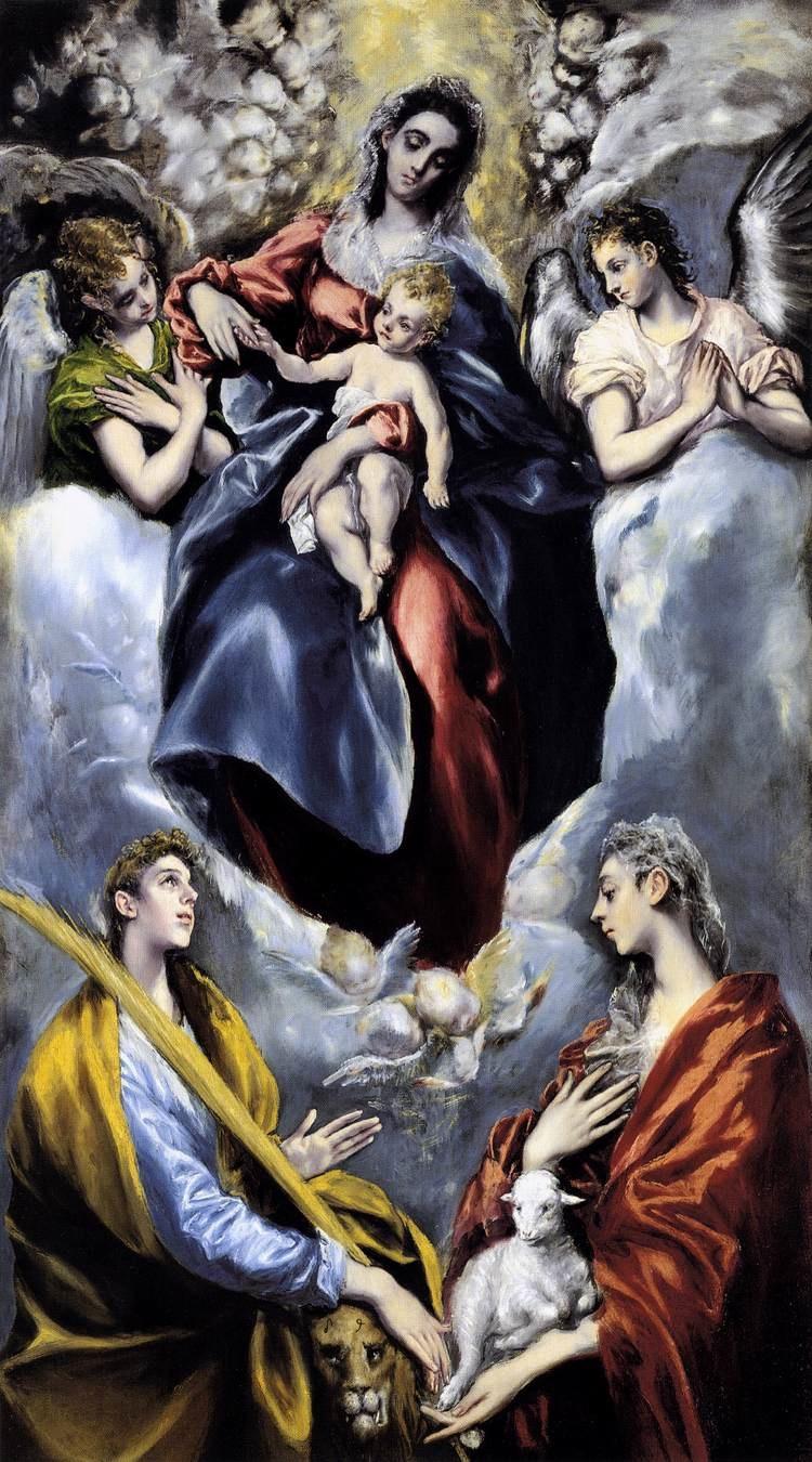 Ελ Γκρέκο,Madonna And Child With St Martina And St Agnes 15771599, oil on canvas, National Gallery of Art, Washington, D.C.jpg