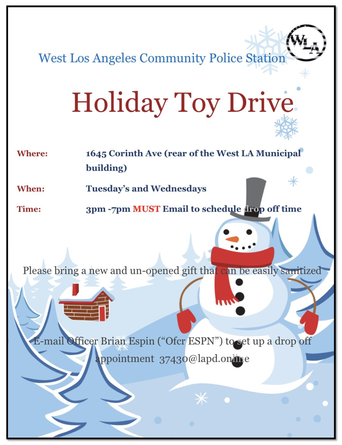 West LA Community Police Station Toy Drive