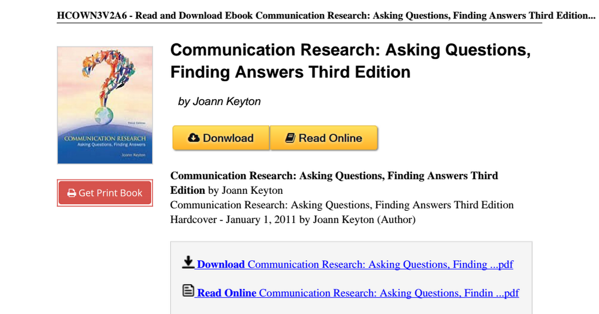 Communication-Research-Questions-Finding-Answers-B00A2KFQ52