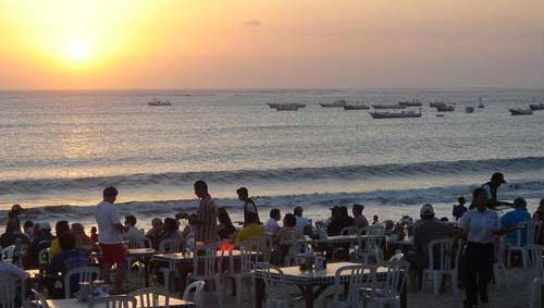 Kedonganan Beach is renowned for its seafood and sunset in Kuta, Bali
