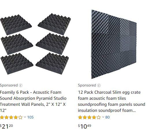 eLearning video production: Acoustic foam options