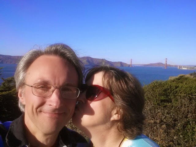 B and I at the Golden Gate