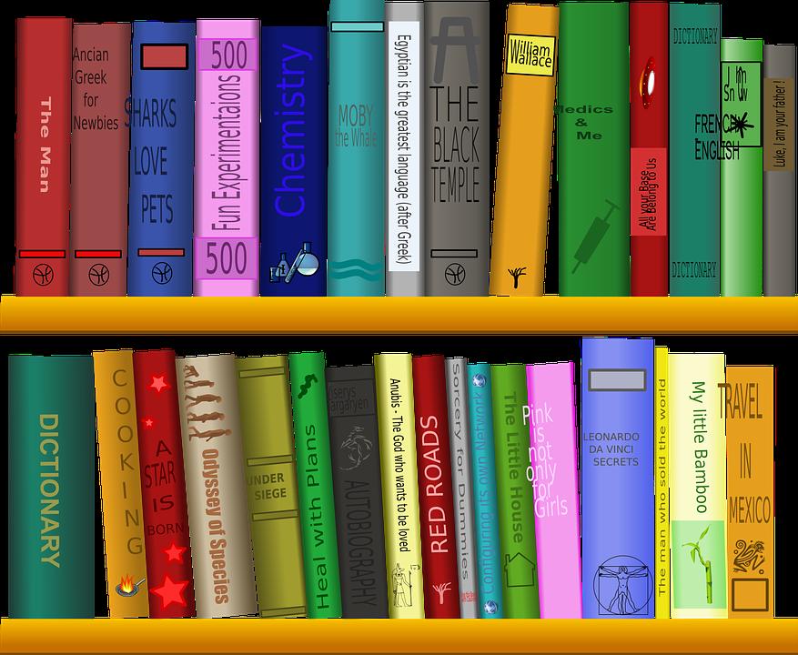 Shelf, Books, Library, Reading