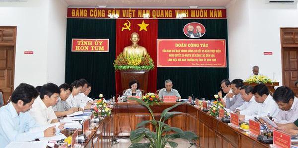 Đảm bảo an toàn Đoàn công tác Trung ương đến làm việc tại Kon Tum