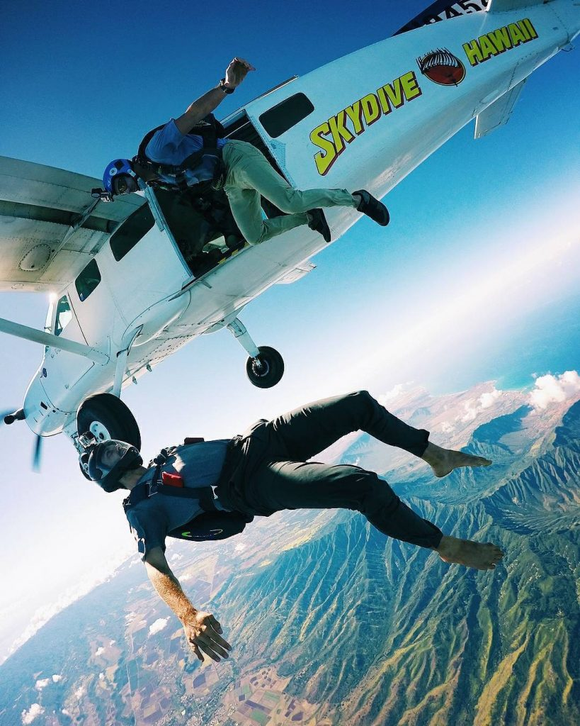 Skydive (#14 on 26 best things to do on Oahu)