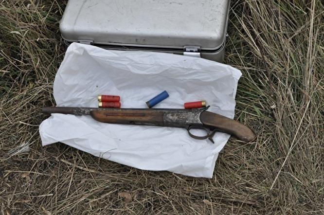 Обрез охотничьего ружья из арсенала группировки Боброва