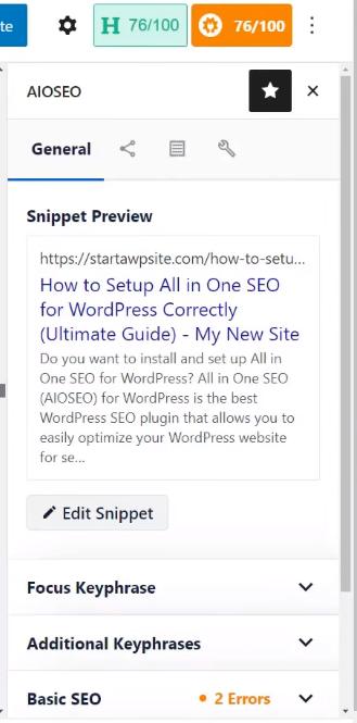All in One SEO - plugin SEO WordPress