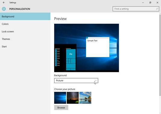 How to Change the Desktop Background in Windows 10 - dummies