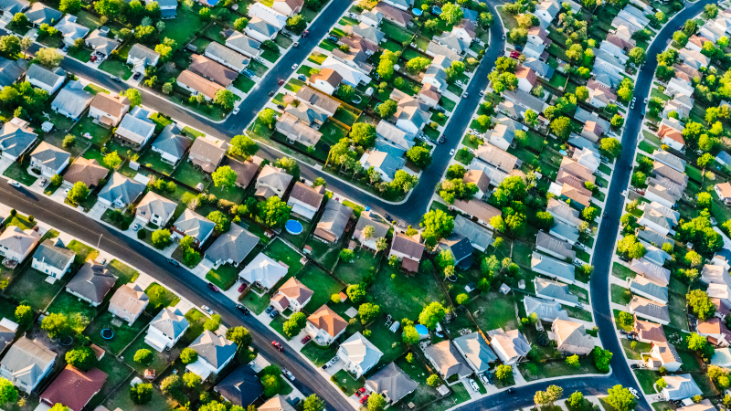 residential suburban neighborhood outside San Antonio, TX