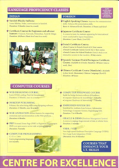 Scroll down and give inputs to list your course of concern