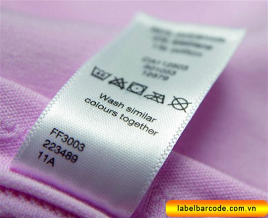 nhãn vải quần áo, nhãn mác quần áo