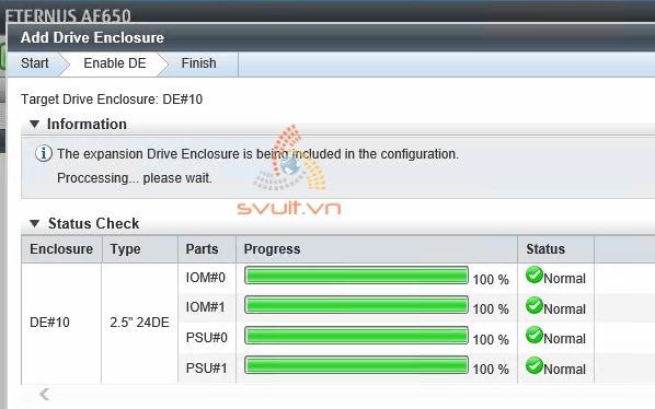 Install Drive Enclosure ETERNUS AF650 #3