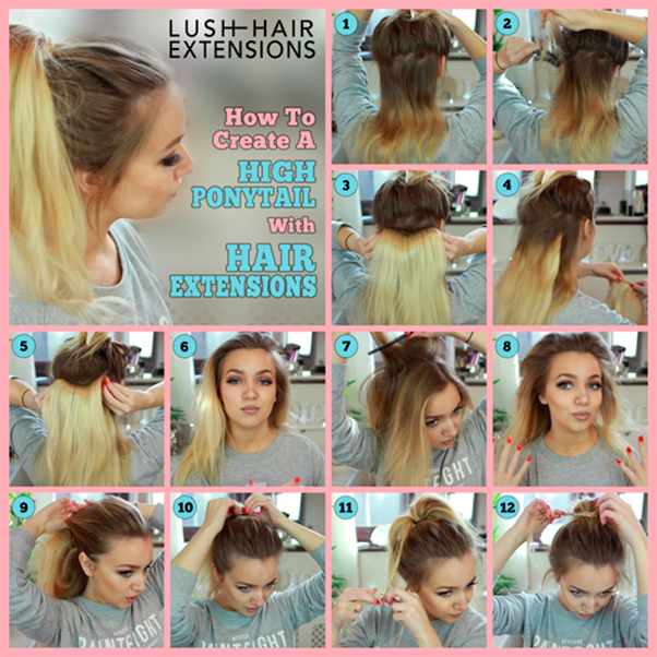 How To Do A High Ponytail With Hair Extensions