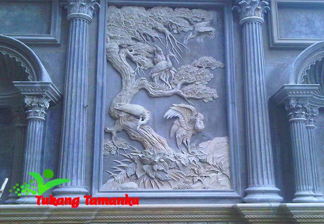 ornamen ukiran relief 3D